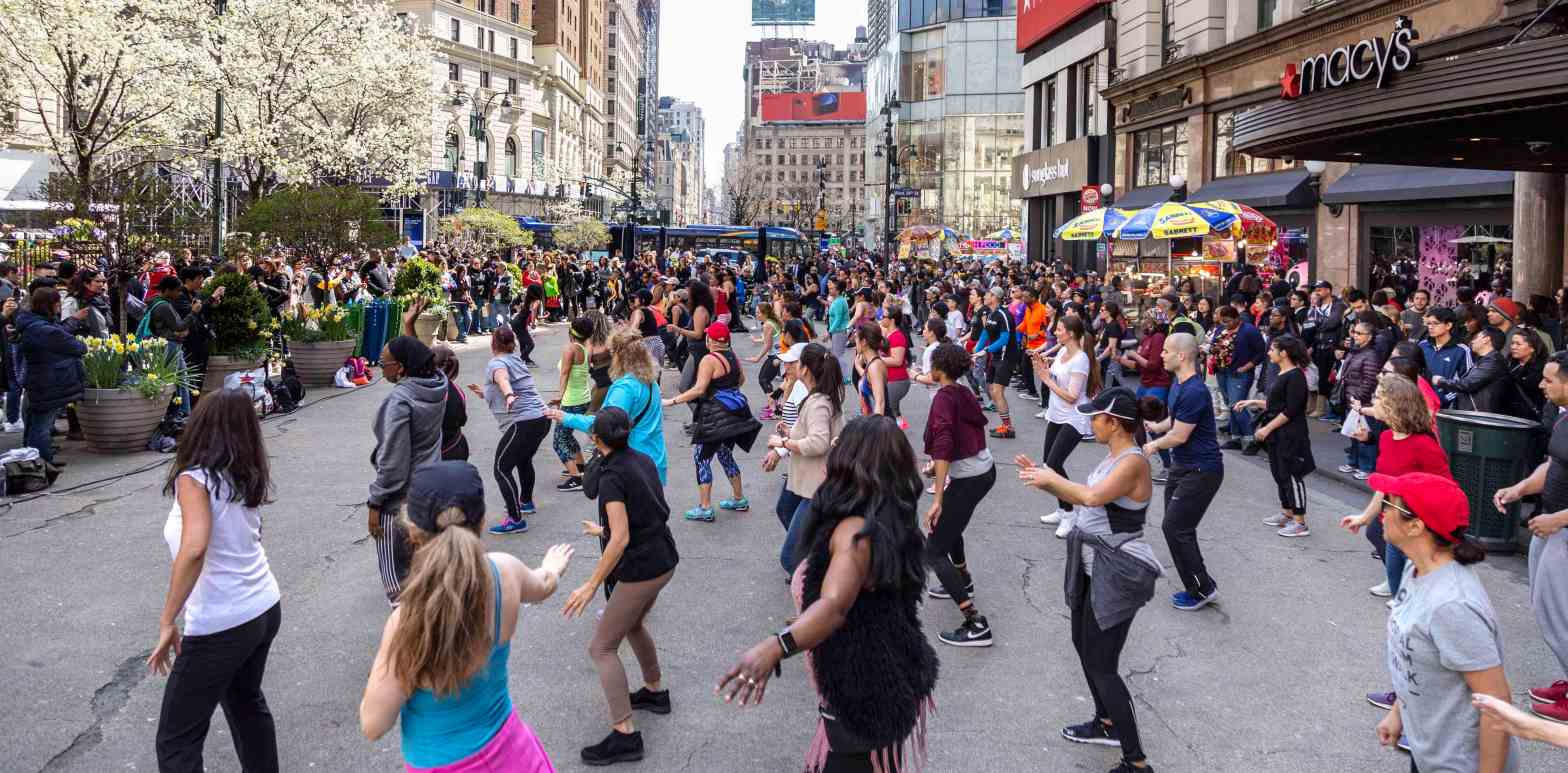 Car-free Earth Day Herald Square New York 2018